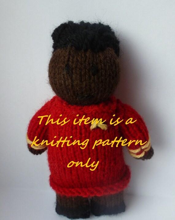 Pdf Knitting Pattern Uhura Star Trek Etsy