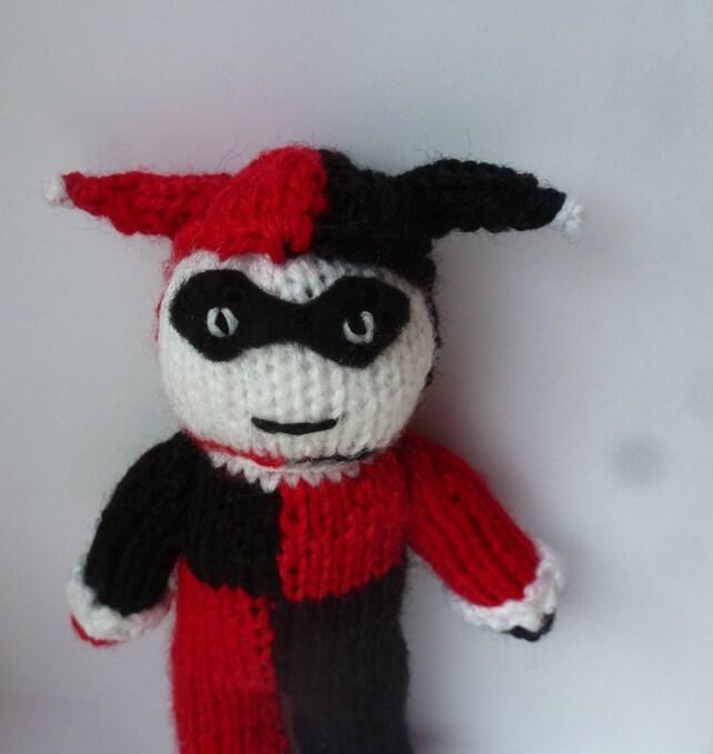 Harley Quinn Batman Knitted Doll Etsy