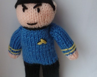 Spock knitted doll