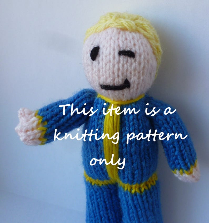 Pdf Knitting Pattern Fallout Vault Tec Boy Etsy