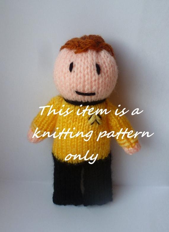 Pdf Knitting Pattern Captain Kirk Star Trek Etsy