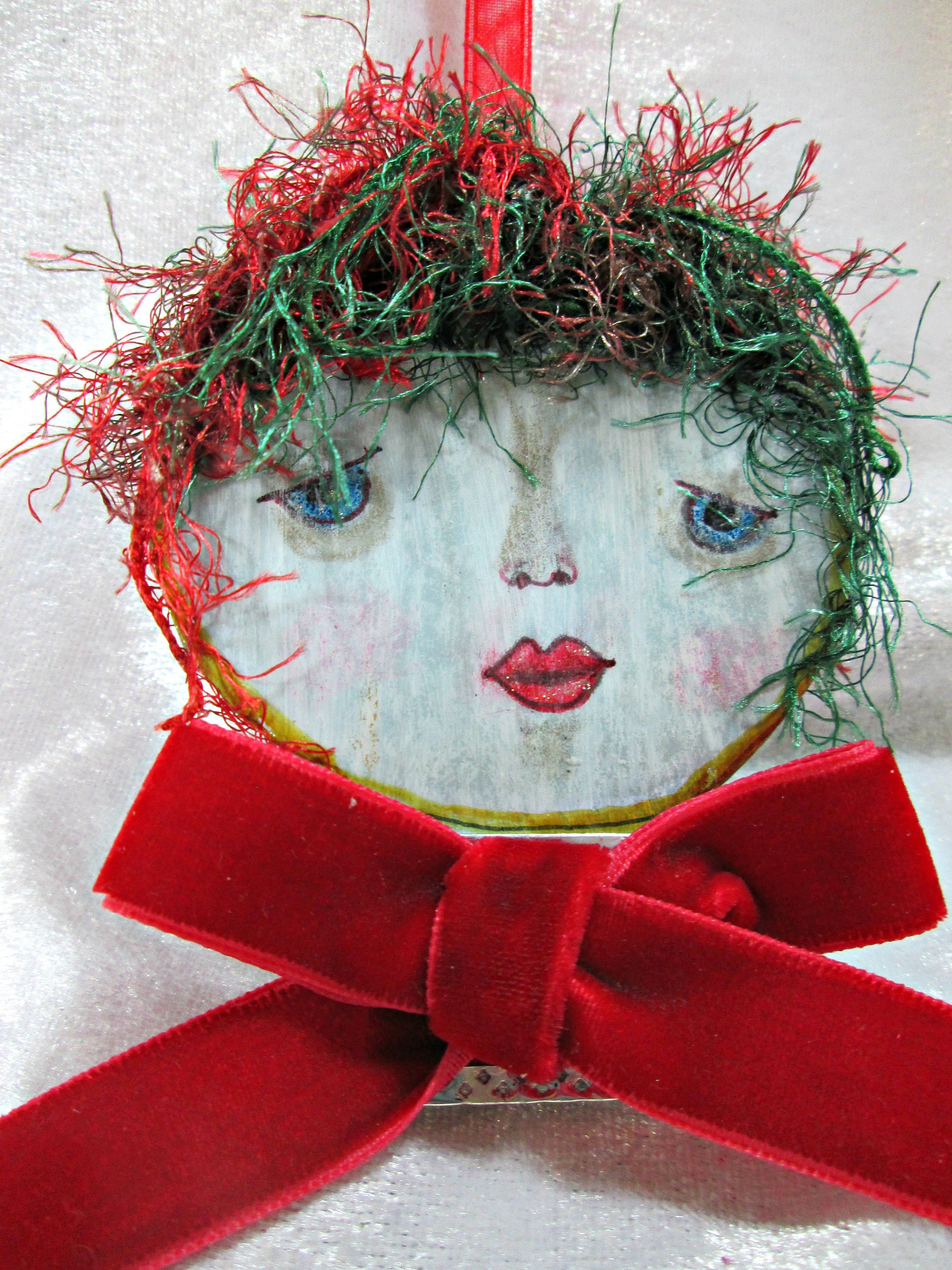 Art Doll Ornament - One of a Kind (OOAK) Hand Painted Doll Face ...