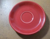 Fiestaware Saucer Plates Made In Usa Red HLC 6 Inches Across USA Free USA Shipping