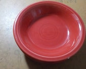 Fiestaware Desert Bowl Made In Usa Scarlett Red HLC 5 1 4 Inches Across USA Free USA Shipping