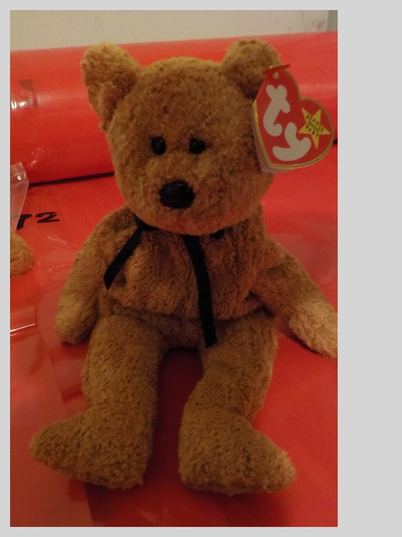 TY JULY the BEAR BEANIE BABY MINT with MINT TAGS