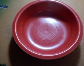 Fiestaware Soup Cereal Bowl Made In Usa Scarlett Red HLC 7 Inches Across USA Free USA Shipping