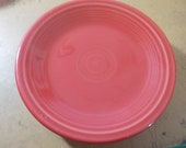 Fiestaware Desert Plate Made In Usa Red HLC 7 1 4 Inches Across USA Free USA Shipping