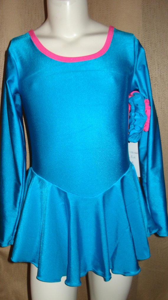 Short Sleeve Figure Skating wAttached Brief 34 Sleeve PracticeTest Dress Synchro Teams All Sizes Long Sleeve Sleeveless Roller Skate