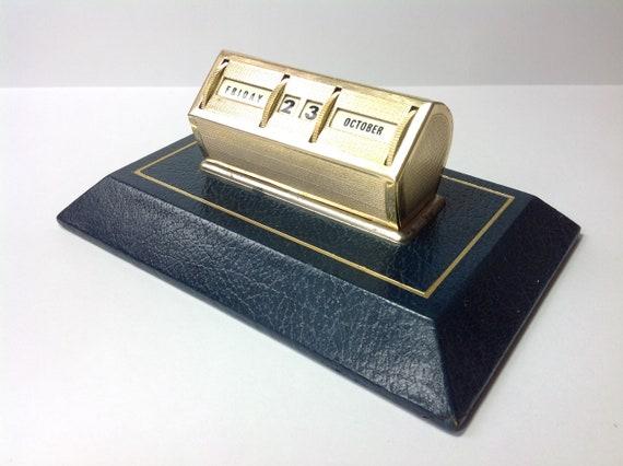 1960s Perpetual Desk Calendar. '60s Retro Desk Accessories. Eternal Calendar. Home or Office Desk Accessories. 60s Mid Century Modern Decor.