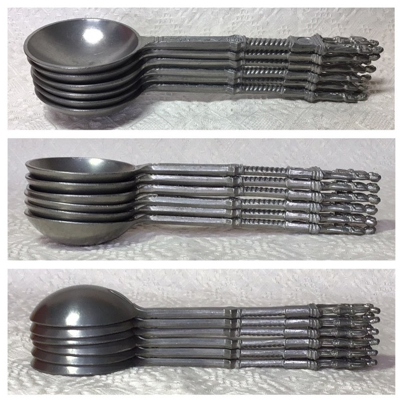 Bride /& Groom Good LuckLove Spoons. Antique Serving Spoons Rare Antique German Pewter Wedding Spoons c1870-1890 WeddingBridesmiad Gifts
