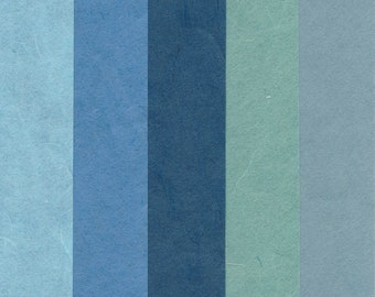 "korean paper for origami ""Hanji"" blue"