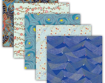 japanese origami paper blue