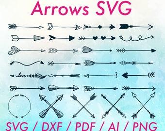 Cricut arrow svg / Tribal arrow png / Arrow cutting files / Cricut arrows svg / Tribal arrows svg / Arrows cutting files / Arrows dxf