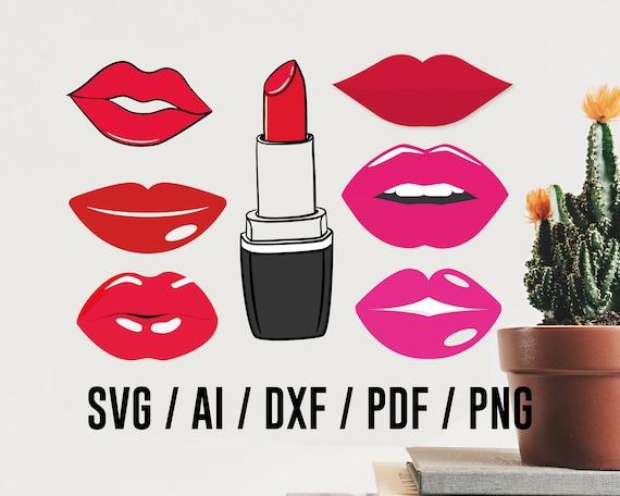 Lips Svg File Lips Svg Lips Svg Files Lipstick Svg File Etsy