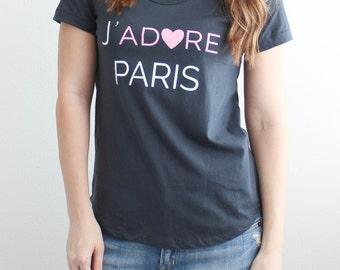 e9bdff97c8 J'Adore Paris Tee // graphic tshirt, francophile, Paris, wanderlust,  travel, blogger, blog, study abroad, France, gift, Parisian