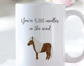 You're 5000 Candles In The Wind Lil Sebastian Parks & Rec coffee mug // fan gift mug, Leslie Knope, Ron Swanson