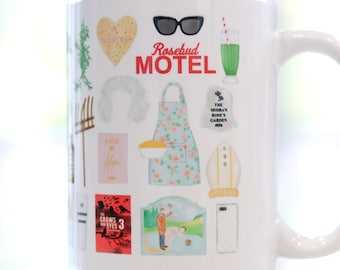 Creek TV Show inspired coffee mug // cute gift, watercolor art mug, fan gift mug, David Rose, Alexis Rose, Moira Rose, Ew David