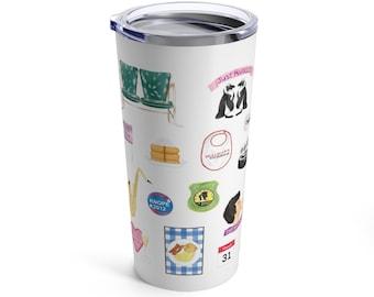 Parks & Rec inspired stainless steel tumbler travel mug //  Parks and Recreation fan gift mug, Leslie Knope, Ron Swanson