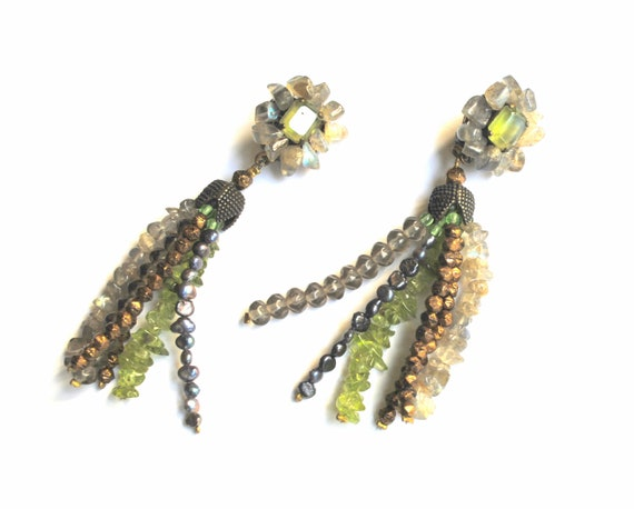 Vintage Gemstones Earrings - image 3