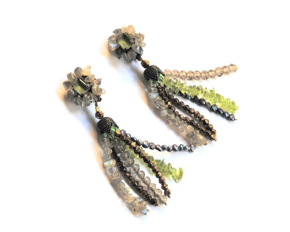 Vintage Gemstones Earrings - image 2