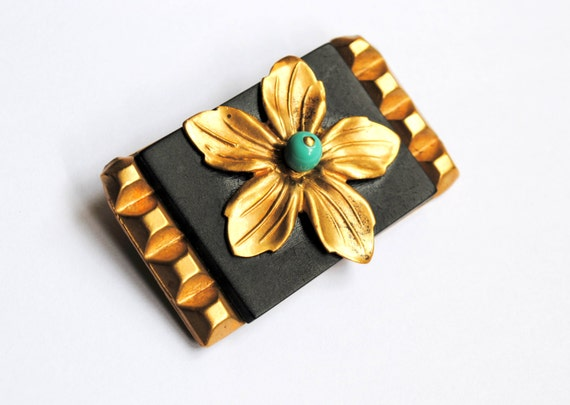 CELLULOID? Antique French Brooch.