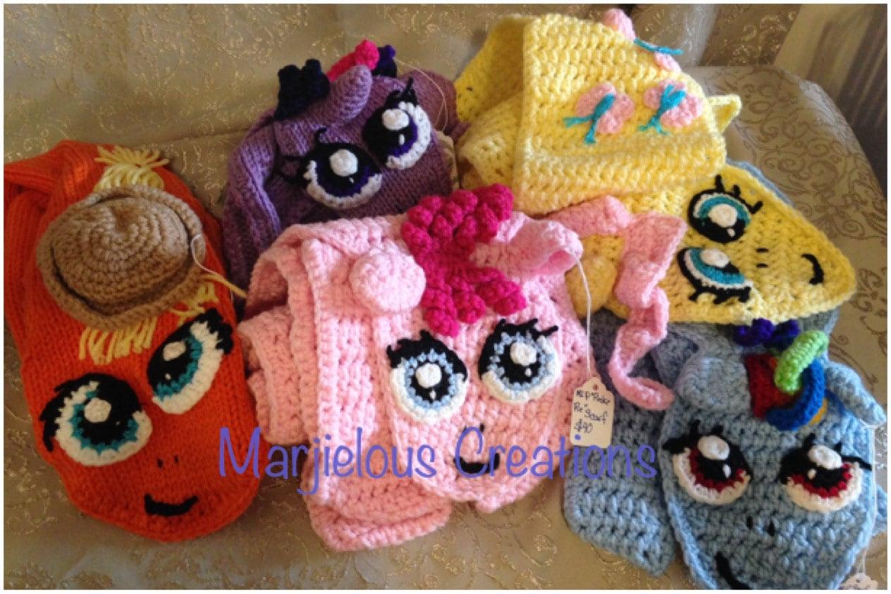 Mlp Cute Pony Scarf Crochet Pattern Etsy