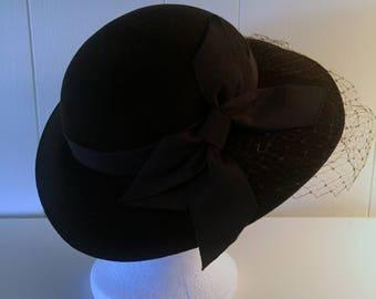 Vintage Doeskin Felt Hat by Bollman for Ernie abb57dca3bae