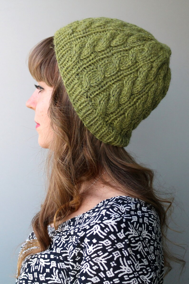 5aef0fb5e69 100% Baby Alpaca  Toque Hat   Loose Knit Hat   Saggy Hat