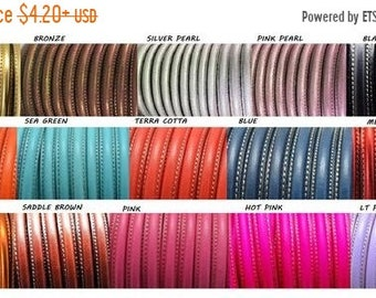 EU Stamped 10x6mm Licorice Leather Cord On Sale Now Metallic Copper Your Pre-Cut Size Choice