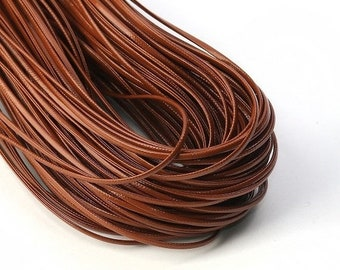 On Sale NOW 25%OFF Best Quality 2mm Flat Vegan Nappa Leather Cord - Brown - 1 Meter (40 inches)