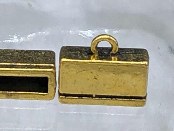 Cord 20pcs Gold Tone Brass Base Clam Ribbon Ends 10mm 1081501 Flat Crimp