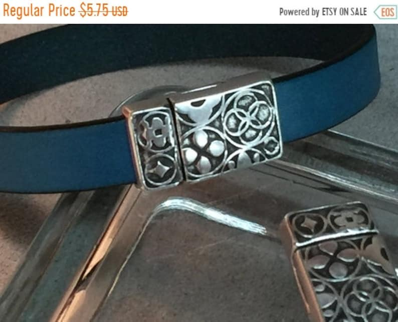 On Sale Now Beautiful Floral Embossed Strong Magnetic Clasp  image 0