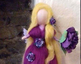 handmade felted wool fairy