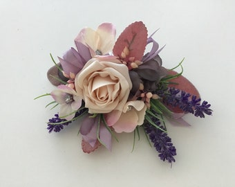 Silk flowers hair etsy dried flower hair combsilk flower hair combflower hair slidehair accessorylilac combhair flowersbridal flowersvintage comb mightylinksfo