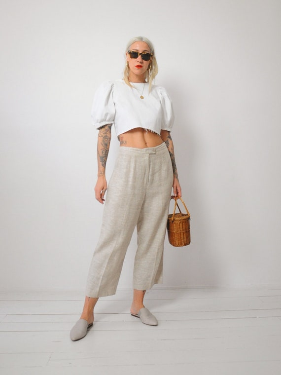 Linen Wide Leg Trousers - image 3