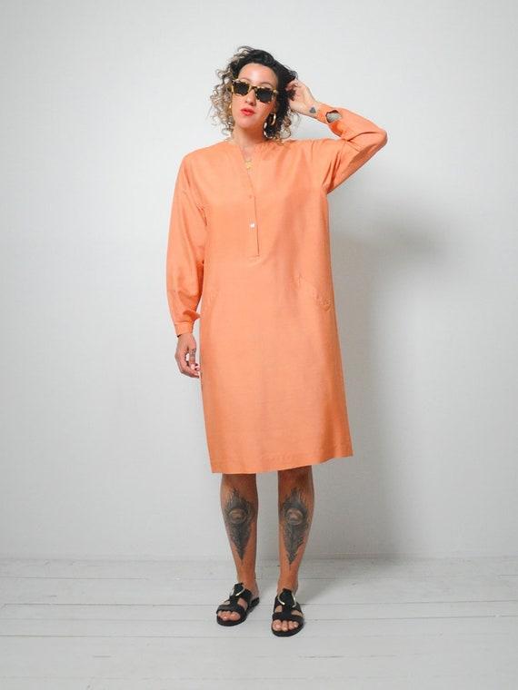 Halston Raw Silk Minimal Dress - image 6