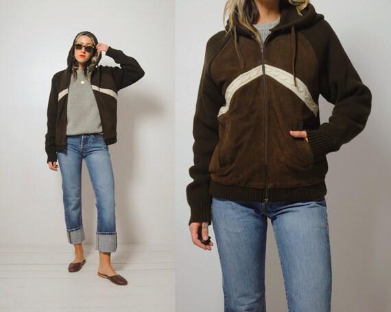 70's Carob suede + knit Jacket