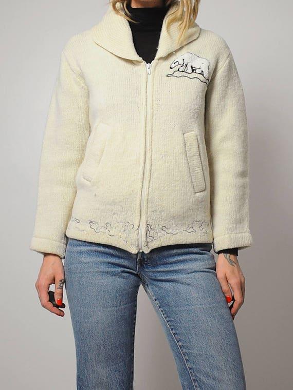 50's Cardigan Eskimo Wool Wool Eskimo Cardigan Cardigan 50's Wool 50's 50's Wool Eskimo Eskimo qv8Yq