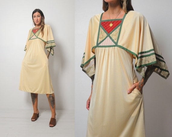 70's Apolline Patchwork Dress
