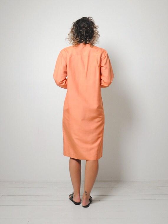 Halston Raw Silk Minimal Dress - image 5