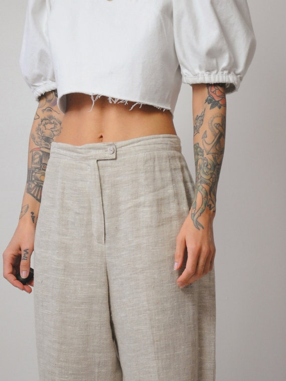 Linen Wide Leg Trousers - image 7