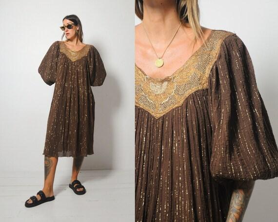 70's Coco Gauze Tent Dress