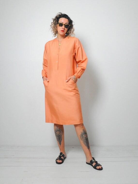 Halston Raw Silk Minimal Dress - image 7