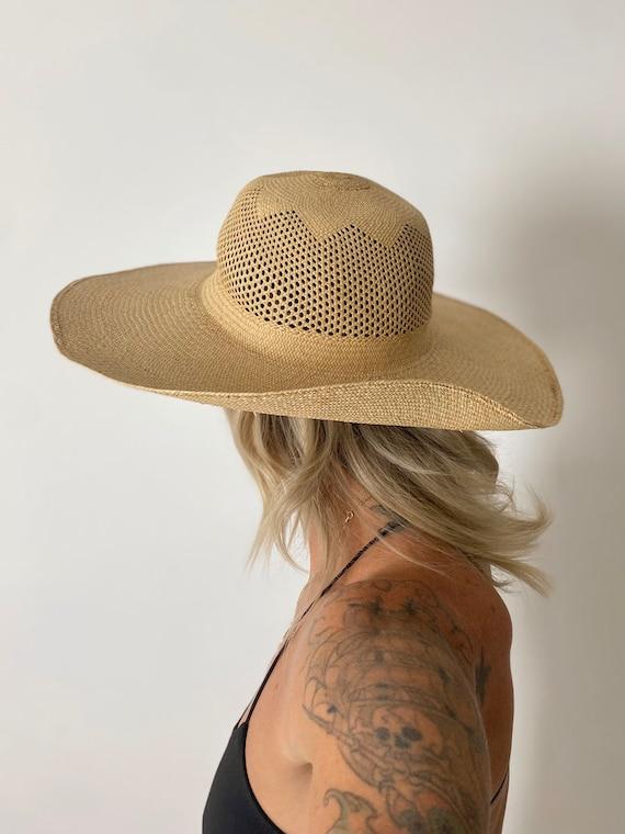 1940s Straw Wide Brim Hat - image 2
