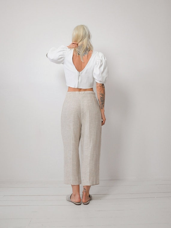 Linen Wide Leg Trousers - image 4
