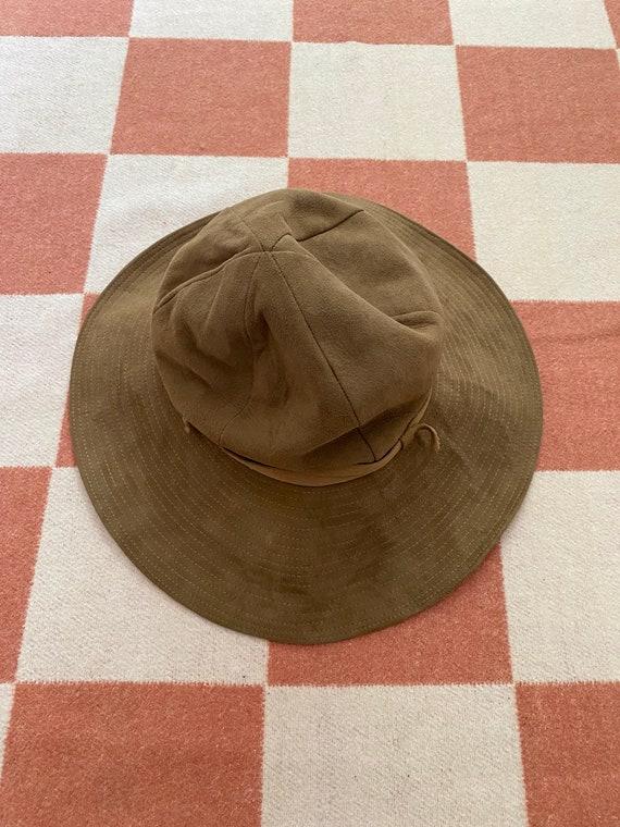 70's Wide Brim Suede Hat - image 1