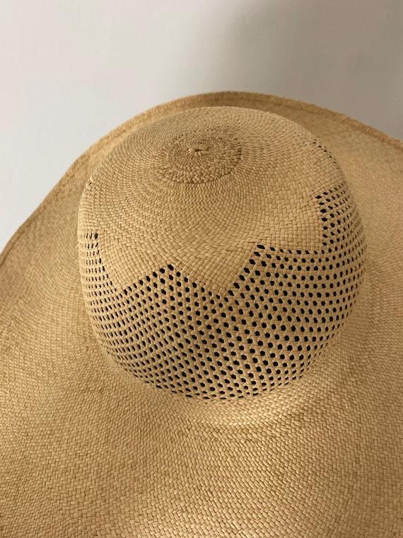 1940s Straw Wide Brim Hat - image 6