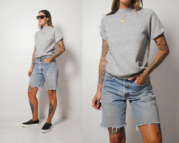 Tri-Blend Short Sleeve Sweatshirt