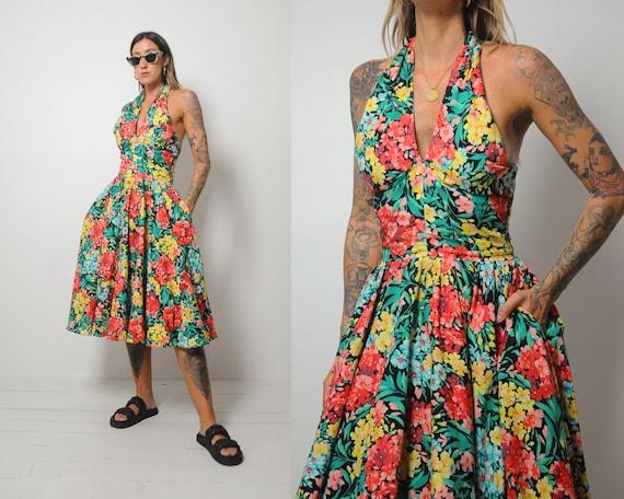 Lillie Rubin Floral Halter Dress