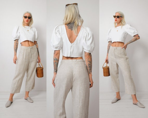 Linen Wide Leg Trousers - image 1